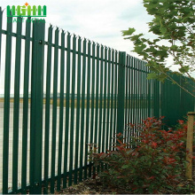 powder galvanized security palisade fence