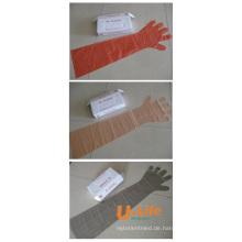 Veterinärhandschuh von PE hergestellt