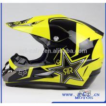 SCL-2016040190 Motocicleta Capacete Off Road Rockstar Bicicleta Da Sujeira Casco Motocross Motocicleta Capacete Capacetes Da Motocicleta Personalizado