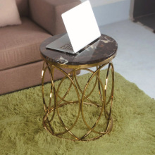 elegant style coffee side table with marble top