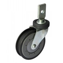 """5"""" Splinting Type Rigid Shopping Cart Caster (gray, one groove)"""