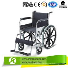 Serviço profissional de tamanho padrão cadeira de rodas com descanso fixo para pés