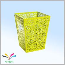 Fashion design medical pedal retangular metal waste paper bin