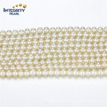 Factory Wholesale Natural Freshwater Pearl Strands Size 3-4mm Round a+ White Cultured Pearl Strand