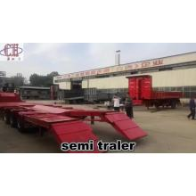 Lianghong 13 Meters Long Low Bed Trailer Can Lift Lowboy Trailer For Sale