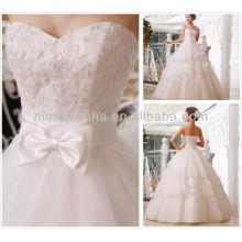2014 дешевые бальное платье свадебные платья милая длиной до пола, бисер блестки кружева-up тюль свадебные платья NB068