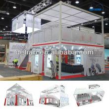 2013 stand de salon d'exposition de deux étages de Shanghai Detian
