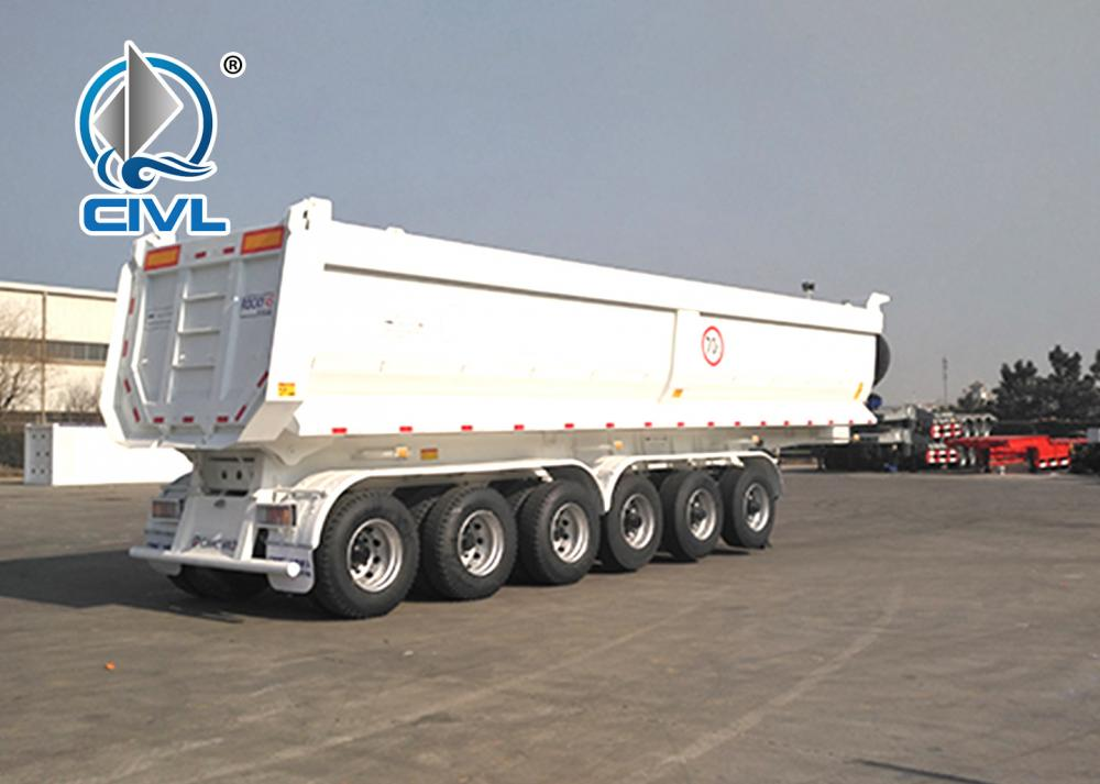 70ton U Shape Tipper Trailer With Six Axle 2