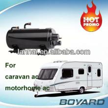 RV Camping Car Caravan Roof Top montiert Reise LKW AC Kit horizontalen Kompressor