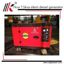 Proveedor de China portátil silencioso mini generador diesel 7 kva 7.5 kw generador precio