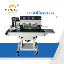 High Speed Horizontal Continuous Heat Sealer with Hot Stamp Ribbon Printing