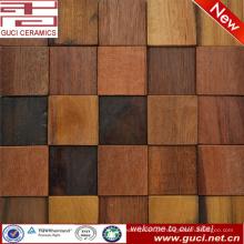 melhor venda telha de assoalho de madeira TV fundo parede mosaico