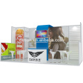 Estande de design portátil para stands de exposição da Detian Offer com prateleiras