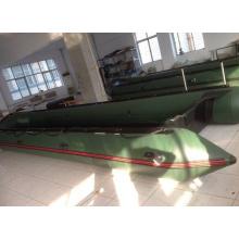 Barco de rescate militar ejército verde resistente