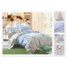 40*40s 133*72 reactive printing Purebest tencel luxury silk bedding set