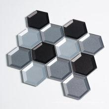 Discount Menards House Bathroom Hexagon Beveled Glass Mosaic Tile Supplies