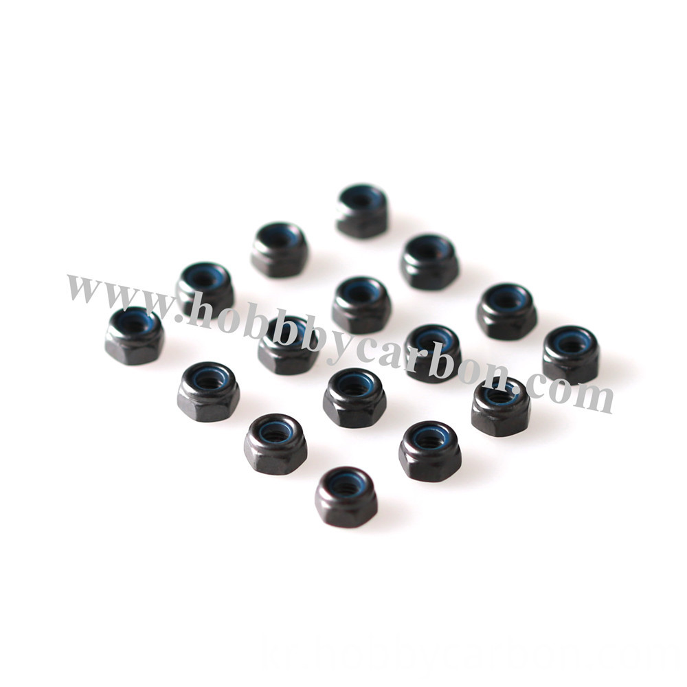 Black Nylock Stainless Steel Nuts