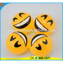 Hot Selling High Quality Novelty Design Emoji with Happy Face Splat Ball Toy