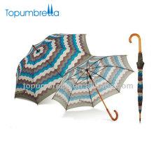 2018 Nouveaux produits papier dames mode stripe imprimer parapluie