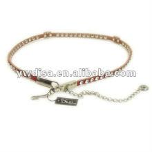 Korean Fashion Rhinestones Leather Waist Belt For Woman