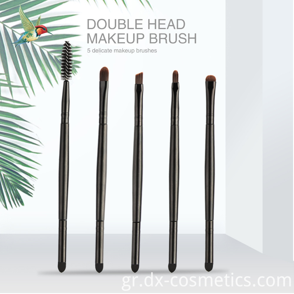 5 Piece Double Head Eye Makeup Brushes 1