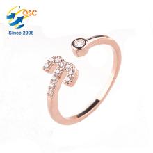 Twelve Constellations - Ensemble d'anneaux en argent sterling plaqué or rose à placage platine