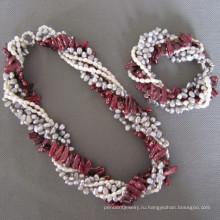 Мода ювелирные изделия ювелирные изделия перлы Set (НАБОР)
