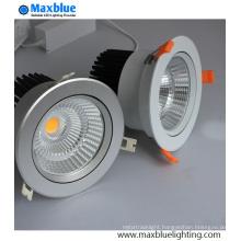 30W Hole 140mm Silver Housing COB LED Downlight