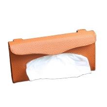 Boîte de papier de soie en cuir PU pare-soleil de voiture