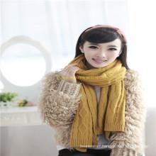 2016 New Lady Fashion Winter Wool\Acrylic Fashion Knitted Scarf Factory