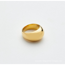 Custom Wholesale Chunky Rings Gold Jewelry Dome Ring Stainless Steel Jewelrygold