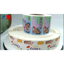 Waterproof Easy Removable Adhesive Baby Wet Tissue Sticker Label Paper