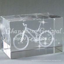 Оптовая один угол отрезать К9 с 3D лазерной гравировкой Кристалл куб для подарок на день рождения