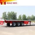 Remolque de tractor de superficie plana de 3 ejes y 40 pies de alta calidad