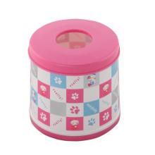Круглые биколорные модные коробки для ткани (FF-5011-2)