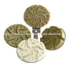 Diamond resin stone polishing pad