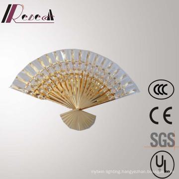 Guzhen New Design Hotel Decorative Sector Crystal Wall Lamp