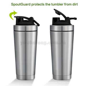 Botella de mezcla de la agitación de la taza de mezcla de la proteína de la botella de agua del acero inoxidable del uso del gimnasio