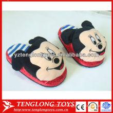 Mickey cabeza zapatillas rellenas zapatillas de invierno de invierno