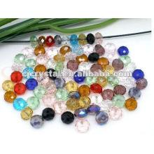 Perlas de cristal de cristal colorido, colores de la mezcla perlas cristalinas de la secuencia