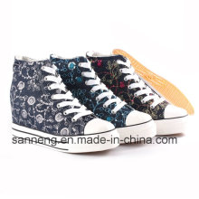 Zapatos de mujer con tacón de cuña insertado en altura (SNC-24245)