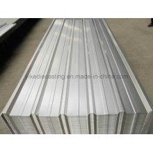 Folha de telhadura de aço galvanizado de metal ondulado