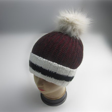 Custom Cuff Pompom Winter Hut