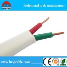 99.9% Condutor de cobre puro Multi-Cores Cable Plano 2 Núcleo