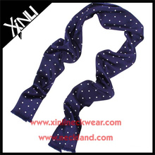 Screen Print Polka Dot Silk Scarf Manufacturing Wholesale China Neck Wear