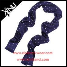 Screen Print Polka Dot Silk Scarf Manufacturing Wholesale China Neck Wear