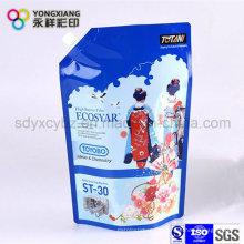 Deténgase Detergente bolsa de embalaje de plástico con salida