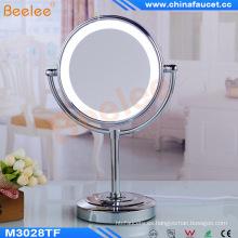 Soporte de escritorio Espejo de maquillaje Espejo LED giratorio para baño de hotel