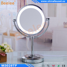 Desktop Stand Makeup Mirror Rotatable LED Mirror for Hotel Bathroom