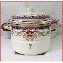 Vapor de aço carbono cozinhar panela de revestimento de esmalte e pote de esmalte personalizado